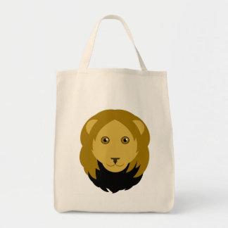 漫画のライオンの顔のトートバック トートバッグ