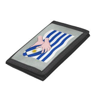 漫画のラグビーのボールが付いているウルグアイの旗