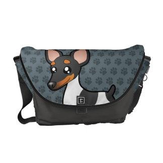 漫画のラットテリア/おもちゃのフォックステリア犬 メッセンジャーバッグ