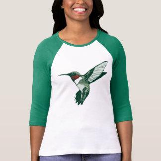 漫画のルビー色のThroatedハチドリのTシャツ Tシャツ