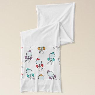 漫画のロケットの船パターン スカーフ