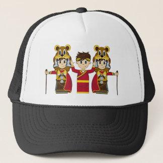 漫画のローマ皇帝および兵士 キャップ