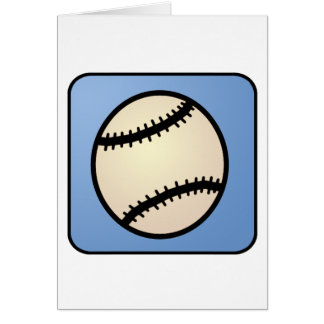 漫画の切り貼り芸術のスポーツ、野球、青い背景 カード