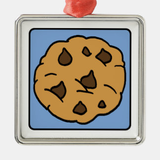 漫画の切り貼り芸術のチョコチップクッキーのデザート メタルオーナメント