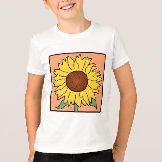 漫画の切り貼り芸術の庭の夏のヒマワリの花 Tシャツ