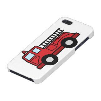 漫画の切り貼り芸術の普通消防車緊急車のトラック iPhone SE/5/5sケース