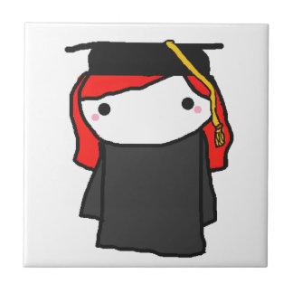 漫画の卒業の女の子 タイル