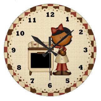 漫画の台所時計 ラージ壁時計