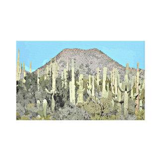 漫画の壁のキャンバスのTontoのサグアロ キャンバスプリント