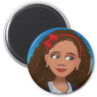 漫画の女の子のAshleyの美しい磁石 マグネット
