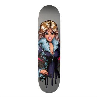 漫画の女の子 21.6CM スケートボードデッキ