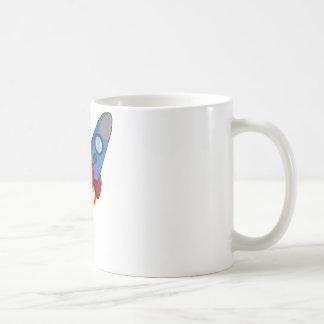漫画の宇宙飛行船-コーヒー・マグ コーヒーマグカップ