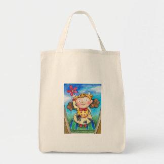 漫画の小さな女の子 トートバッグ