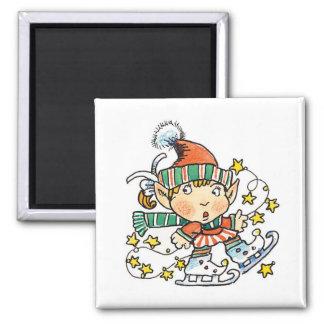 漫画の小妖精や小人はアイススケートします マグネット