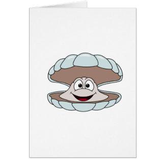 漫画の帆立貝の貝のハマグリ カード