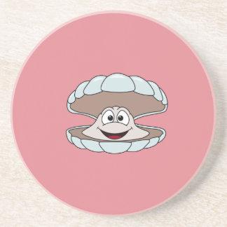 漫画の帆立貝の貝のハマグリ コースター