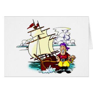 漫画の帆船 カード