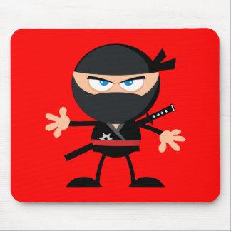 漫画の忍者の戦士の赤 マウスパッド