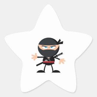 漫画の忍者の戦士 星シール