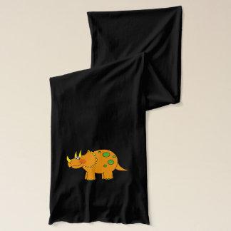 漫画の恐竜のトリケラトプス スカーフ