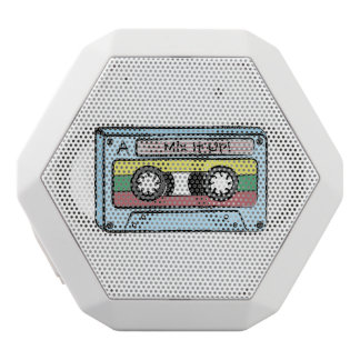 漫画の手描きのカセットテープ(組合せそれ) ホワイトBluetoothスピーカー