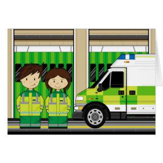 漫画の救急車およびEMT カード