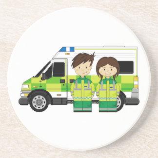 漫画の救急車およびEMT コースター