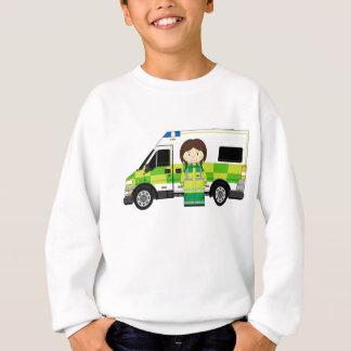 漫画の救急車およびEMT スウェットシャツ