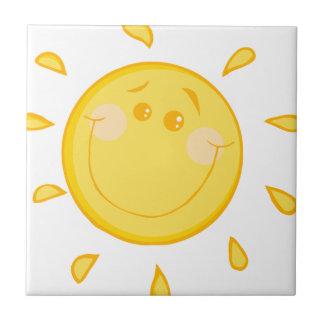 漫画の明るい太陽 タイル