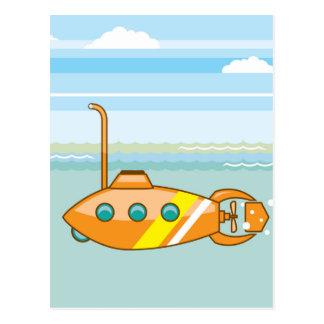漫画の潜水艦 ポストカード