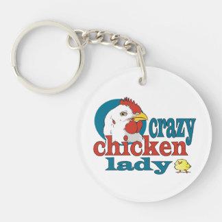 漫画の熱狂するな鶏の女性 キーホルダー