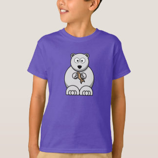 漫画の白くま-子供のTシャツ Tシャツ