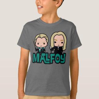 漫画の竜座およびLucius Malfoyのキャラクターの芸術 Tシャツ