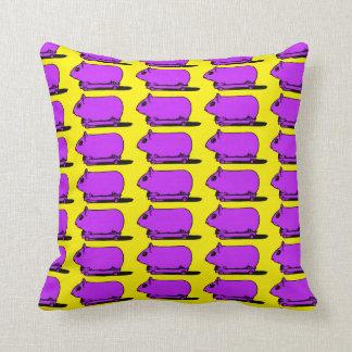 漫画の紫色のモルモットのハムスターの枕 クッション