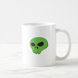 漫画の緑のスカル コーヒーマグカップ