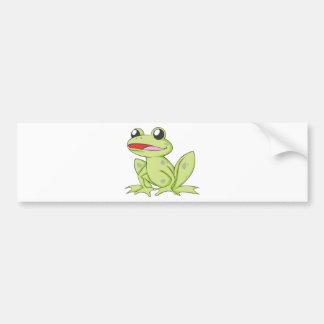 漫画の緑の牛蛙 バンパーステッカー