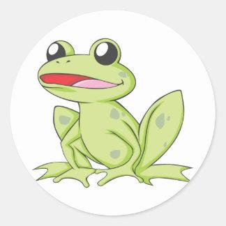 漫画の緑の牛蛙 ラウンドシール
