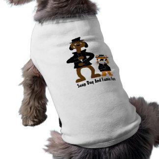 漫画の詮策DoggおよびJamieのキツネファン ペット服