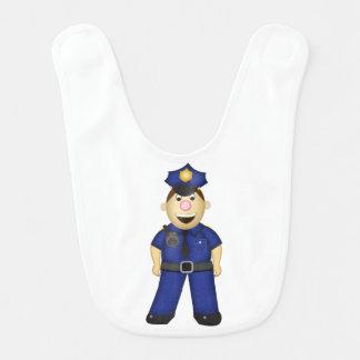 漫画の警察官のよだれかけ ベビービブ