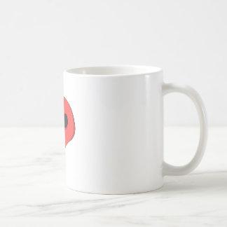 漫画の赤のスカル コーヒーマグカップ
