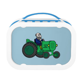 漫画の農家およびトラクター ランチボックス