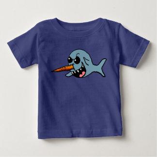 漫画の邪悪なNarwhalのワイシャツ ベビーTシャツ