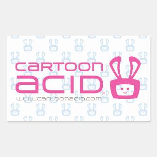 漫画の酸のステッカー(ピンク) 長方形シール・ステッカー