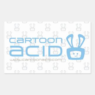漫画の酸のステッカー(空色) 長方形シールステッカー