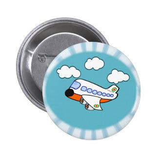 漫画の飛行機 5.7CM 丸型バッジ