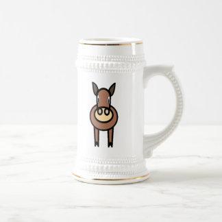 漫画の馬 ビールジョッキ