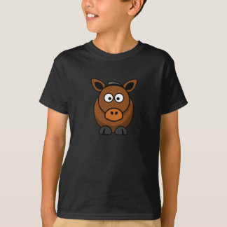 漫画の馬-子供のTシャツ Tシャツ