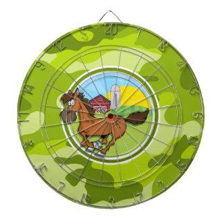 漫画の馬; 若草色の迷彩柄、カムフラージュ ダーツボード