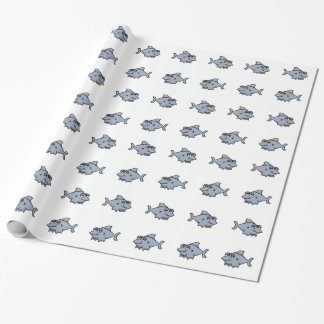 漫画の鮫の包装紙 ラッピングペーパー