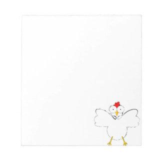 漫画の鶏のイラストレーション ノートパッド